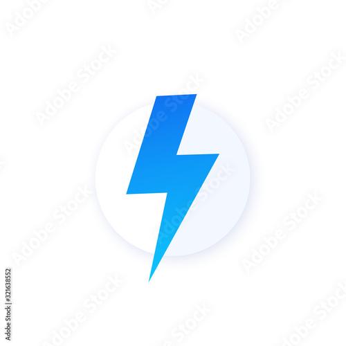 Fototapeta electric consumption icon, vector design obraz