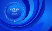 Classic Blue Abstract Background Vector