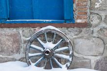 Old Horse Cart Wheel In Erzuru...