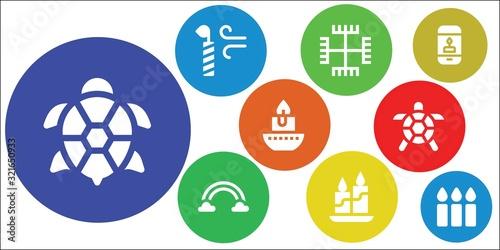 Cuadros en Lienzo symbolic icon set