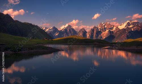 Photo Magic view of koruldi lake in svaneti