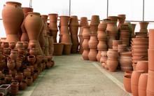 Soft Focus Pots In A Gardening...