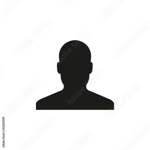Silhouette of man icon. Unknown male person. Vector. Flat design. Fototapet