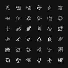 Editable 36 Wing Icons For Web...