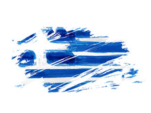 Abstract Grunge Flag Of Greece