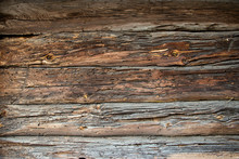 Old Wooden Timbered Wall Of A ...