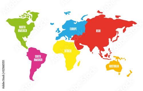 Fotomural World map globe