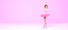 3D Ballerina Legs In Light Cla...
