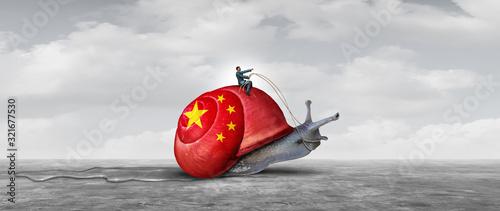 Canvastavla Slow China Economy