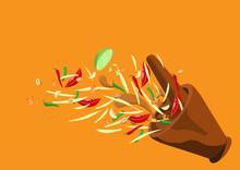 Som Tum. Thai Food Papaya Sala...