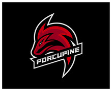 Porcupine Esport Gaming Mascot...