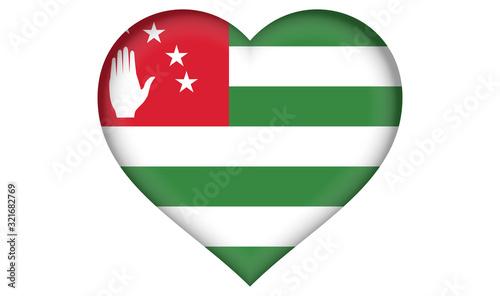 Abkhazia flag heart Canvas Print