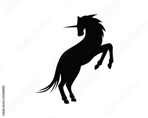 Fotografía Unicorn Illustration with Silhouette Style