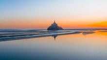 Mont Saint Michel At Sunrise D...