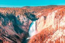 Yellowstone Falls In Yellowsto...
