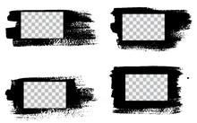 Grunge Stencil Frames. Painted...
