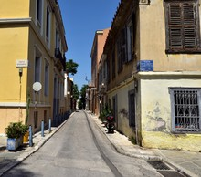 An Empty Street In Athens