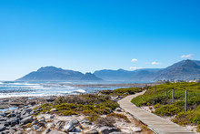 Hout Bay From A Beach Walkway In Kommitjie, Cape Town, South Africa