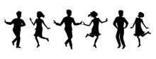 Vector Illustration Of Dancing...