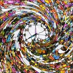 Naklejka Witraże świeckie Time Abstraction