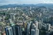 Aerial view of Kuala Lumpur city center KLCC. Malaysia