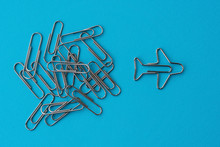 Group Of Ordinary Paper Clips ...