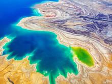 Dead Sea, Ein Bokek, Israel - February 18: Sunrise At The Dead Sea Of Ein Bokek Dead Sea, Israel