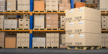 Warehouse Or Storage With Card...