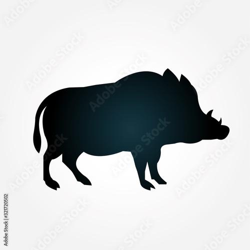 Leinwand Poster Wildschwein