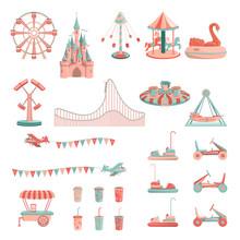 Vector Cartoon Amusement Park ...