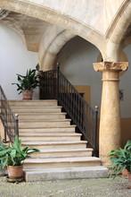 Picturesque Courtyard In Palma De Mallorca, Spain