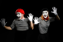Mimes Are Touching Imaginary W...
