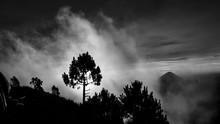 The Acatenago Volcano Erupting...