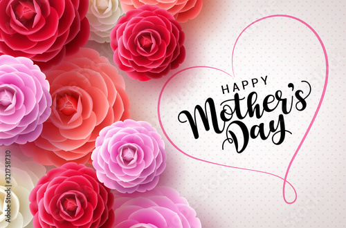 Fotografija Happy mothers day vector greetings card background