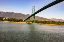 Lions Bridge. In Vancouver In British Columbia, Canada
