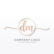 DM Initial Handwriting Logo Wi...