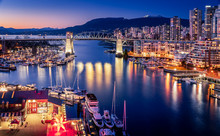View Of Vancouver At Night, Fr...