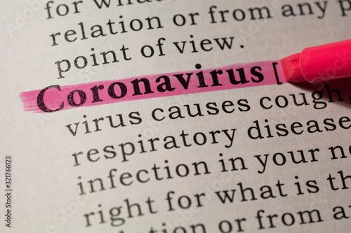 Fotografía definition of coronavirus