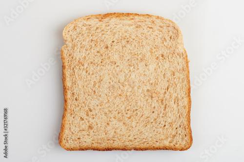 Square white bread slice
