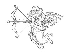 Cupid Boy With Bow & Wings, Sy...