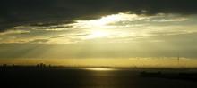 Tokyo Skyline With Sunlight Pe...