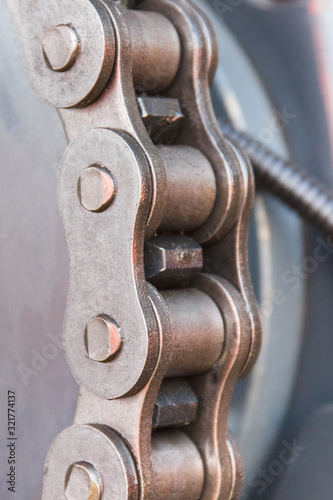 Metal chain as part of agricultural or industrial machinery Canvas-taulu