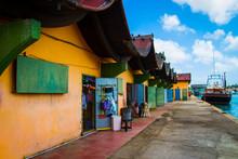 Colorfull Pier In Aruba