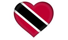 Trinidad And Tobago Flag Heart