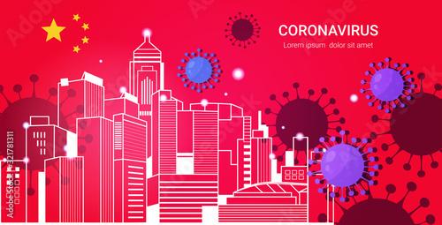 Photo epidemic MERS-CoV bacteria floating influenza virus cells wuhan coronavirus 2019