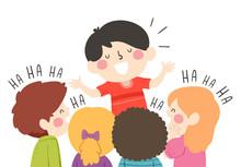 Kids Boy Comedian Tell Joke Il...