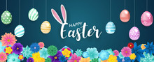 Happy Easter Background. Flowe...