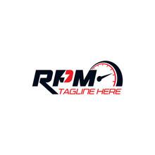 RPM Logo Design Vector Template