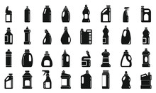 Bleach Icons Set. Simple Set Of Bleach Vector Icons For Web Design On White Background