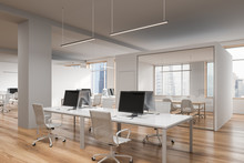 White Open Space Office Workplace